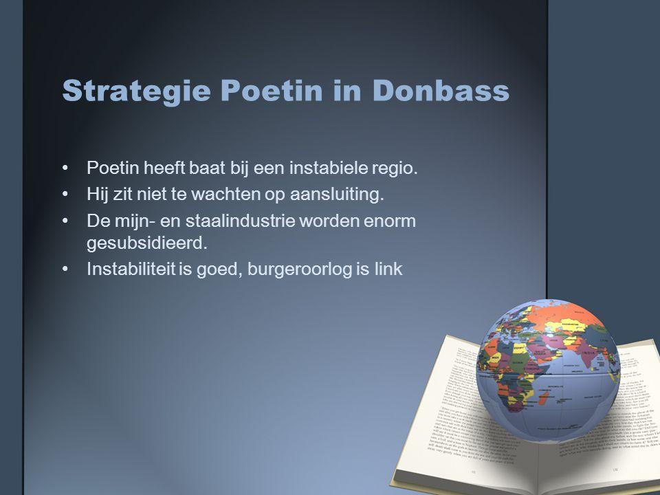 Strategie Poetin in Donbass Poetin heeft baat bij een instabiele regio.