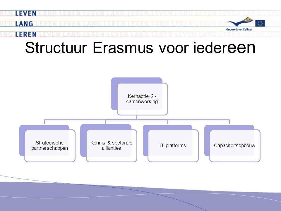 Kernactie 2 - samenwerking Strategische partnerschappen Kennis & sectorale allianties IT-platformsCapaciteitsopbouw