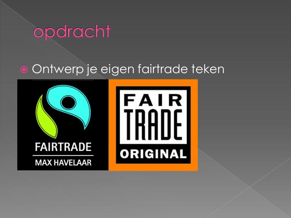  Ontwerp je eigen fairtrade teken