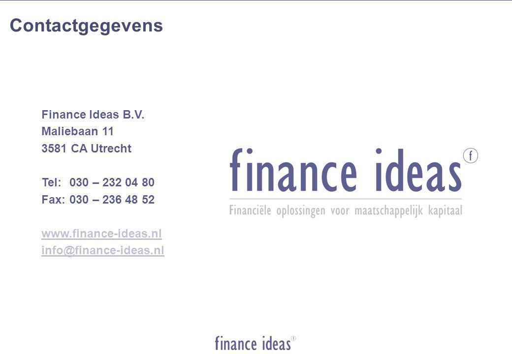 Contactgegevens Finance Ideas B.V.