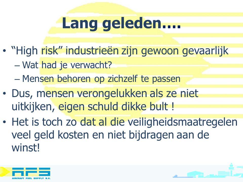 """Lang geleden…. """"High risk"""" industrieën zijn gewoon gevaarlijk – Wat had je verwacht? – Mensen behoren op zichzelf te passen Dus, mensen verongelukken"""