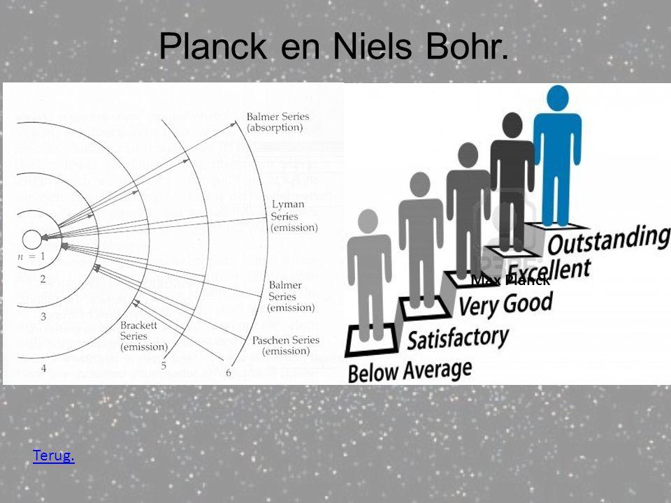 Niels Bohr, Redde het model van zijn mentor. Door te kijken naar andere wetenschappers. Planck en Niels Bohr. Terug. Max Planck