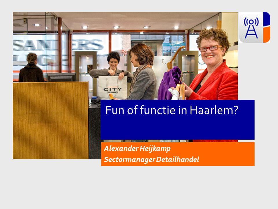 Alexander Heijkamp Sectormanager Detailhandel Fun of functie in Haarlem?