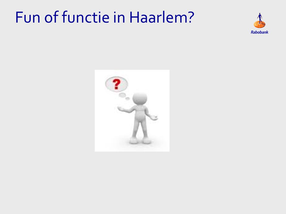 Fun of functie in Haarlem?