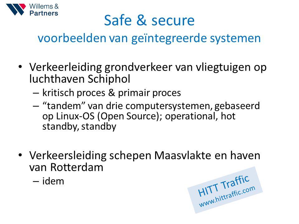 Safe & secure voorbeelden van geïntegreerde systemen Verkeerleiding grondverkeer van vliegtuigen op luchthaven Schiphol – kritisch proces & primair pr