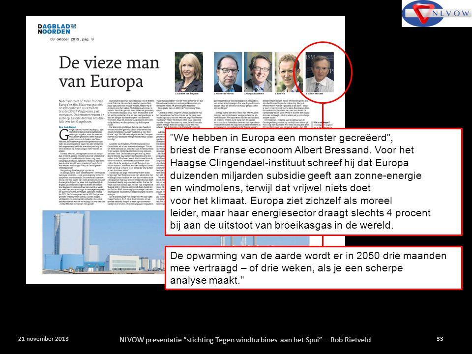 """NLVOW presentatie """"stichting Tegen windturbines aan het Spui"""" – Rob Rietveld 33 21 november 2013"""