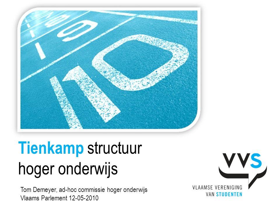 Tienkamp structuur hoger onderwijs Tom Demeyer, ad-hoc commissie hoger onderwijs Vlaams Parlement 12-05-2010