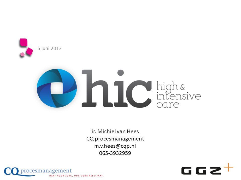 6 juni 2013 ir. Michiel van Hees CQ procesmanagement m.v.hees@cqp.nl 065-3932959