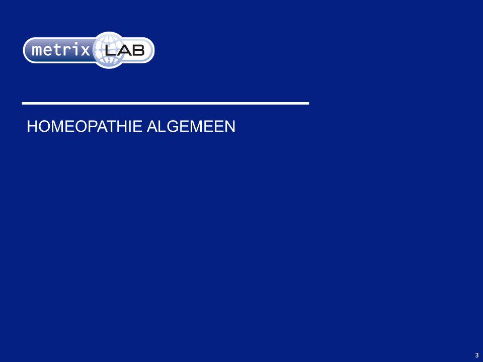 3 HOMEOPATHIE ALGEMEEN