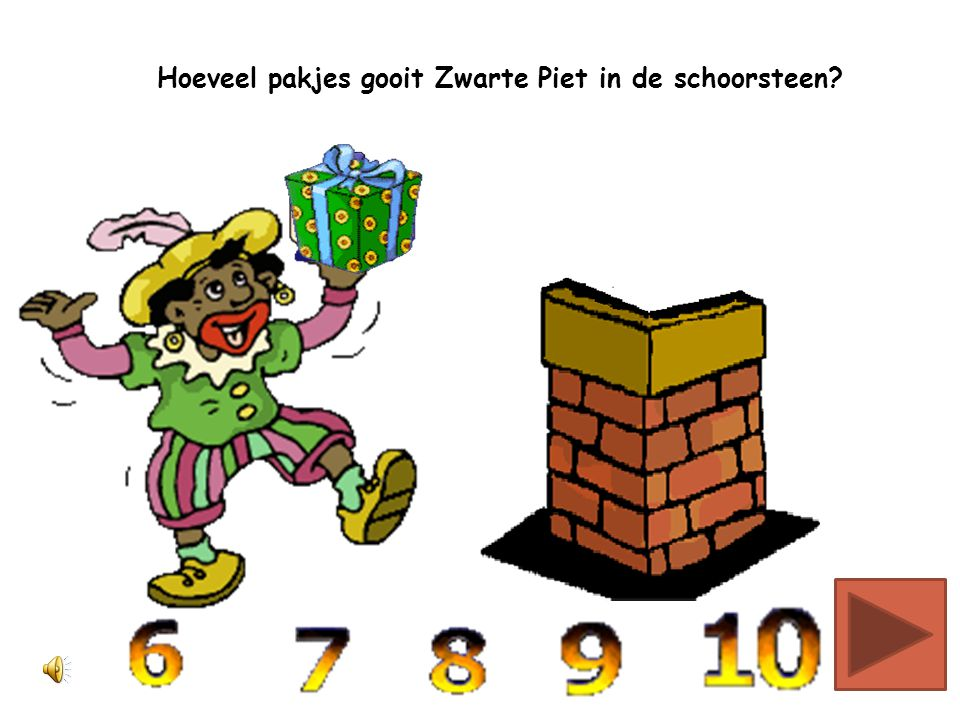 Hoeveel pakjes gooit Zwarte Piet in de schoorsteen?