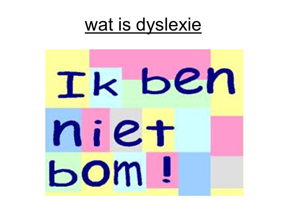 wat is dyslexie