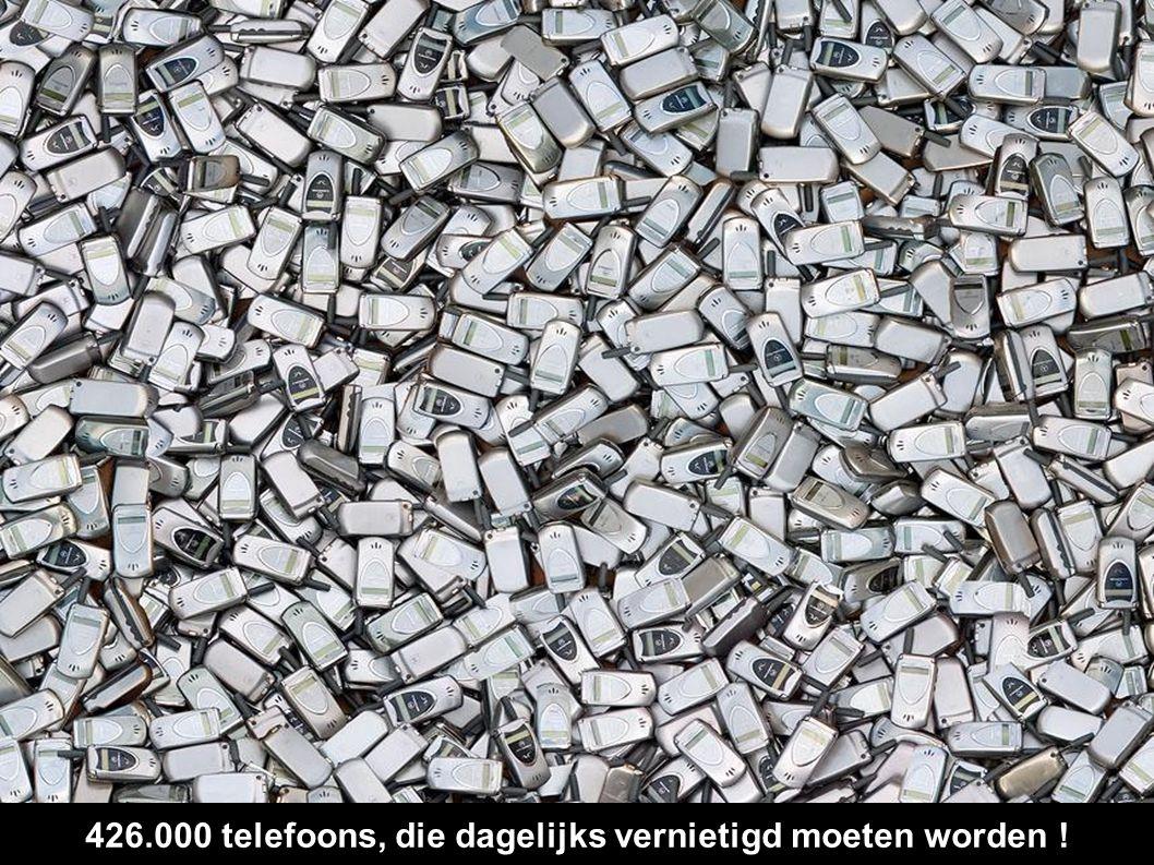 426.000 telefoons, die dagelijks vernietigd moeten worden !