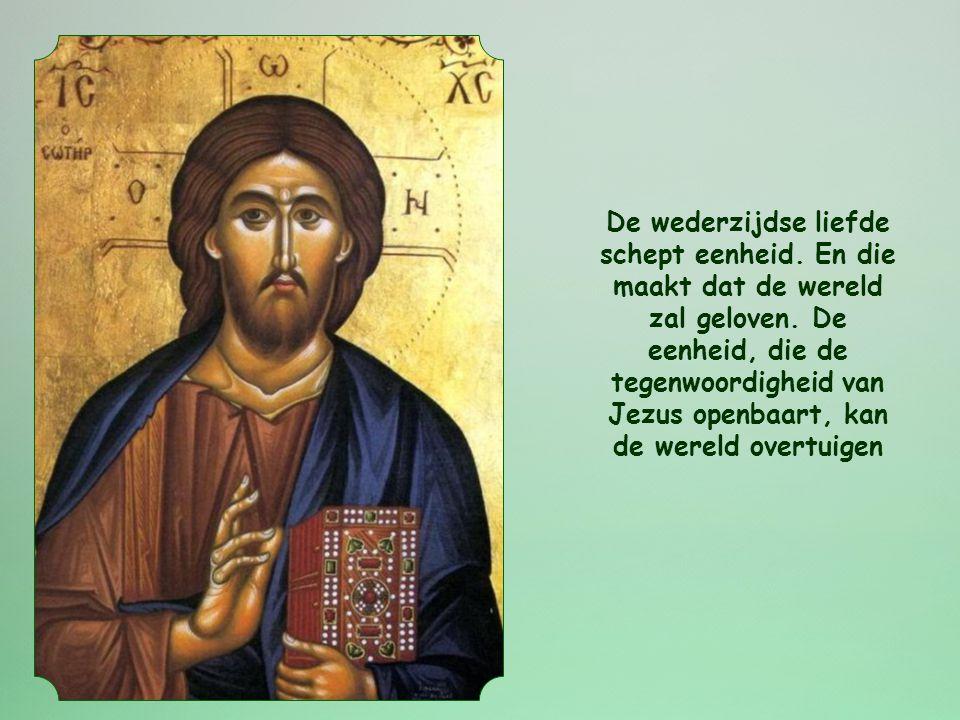 Johannes, die deze woorden van Jezus weergeeft, ziet in de wederzijdse liefde het gebod bij uitstek van de Kerk. Die heeft immers als roeping om een g