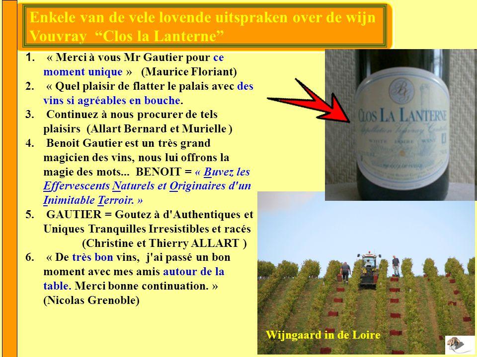 De Vouvray is een subgebied met een eigen herkomstbenaming binnen het Touraine- gebied.