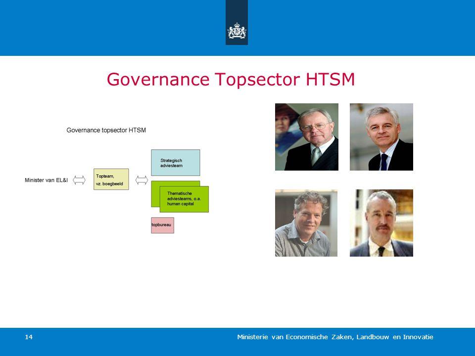 Ministerie van Economische Zaken, Landbouw en Innovatie 14 Governance Topsector HTSM