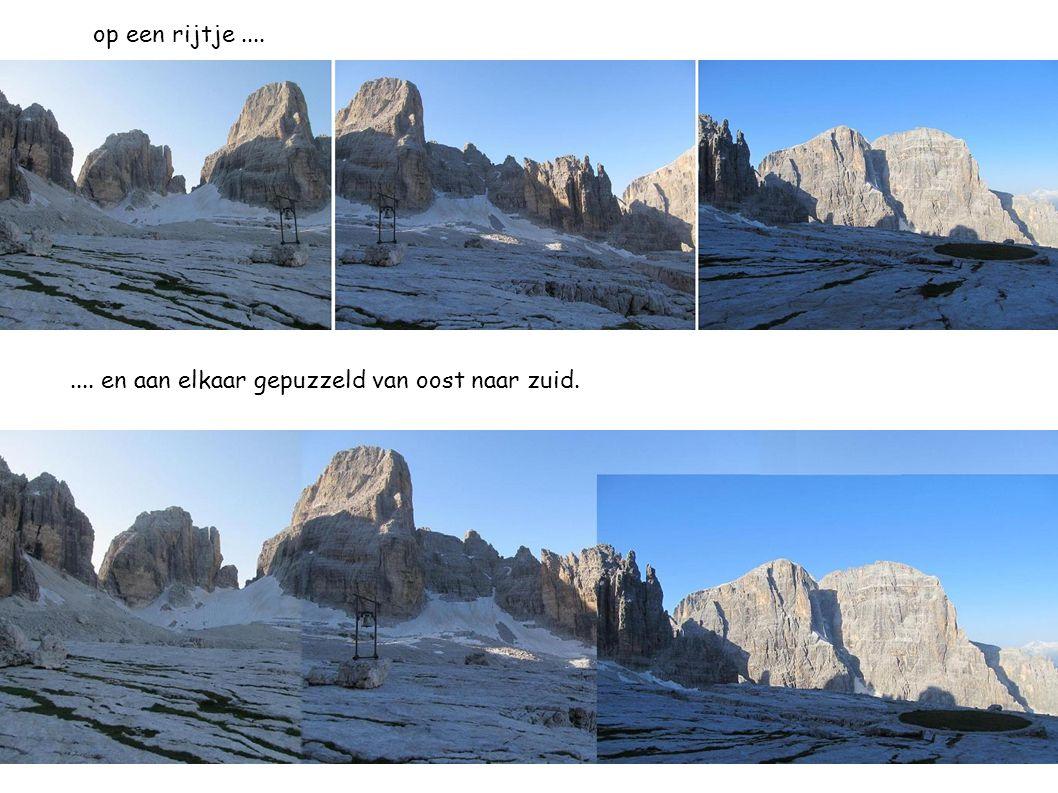 Om 8u 15 zijn we over de gletsjer Vedretta dei Sfulmini en beklimmen de eerste ladder van de VIA DELLE BOCCHETTE.