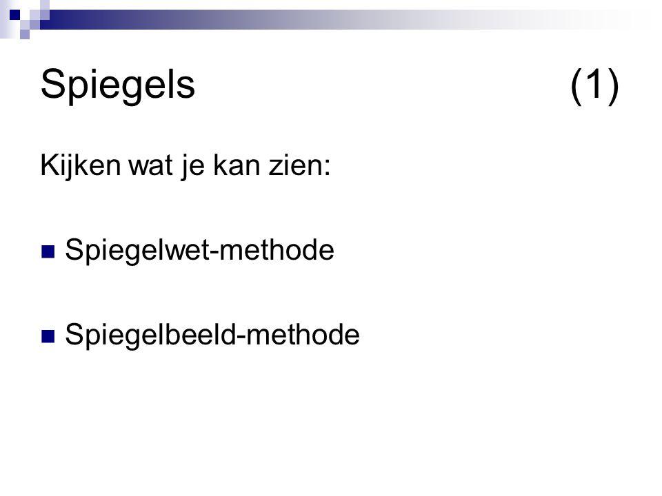 Kijken wat je kan zien: Spiegelwet-methode Spiegelbeeld-methode Spiegels(1)