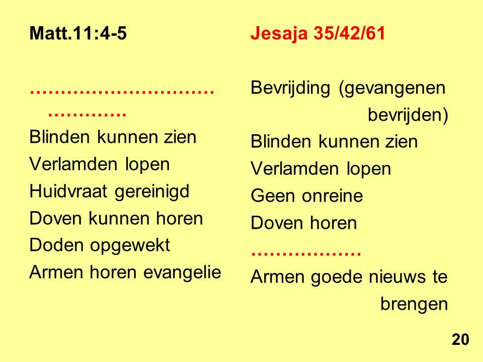 Matt.11:4-5 ………………………… ………….