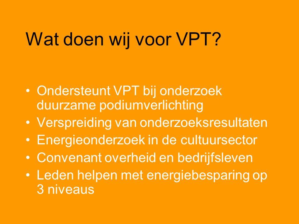Wat doen wij voor VPT.
