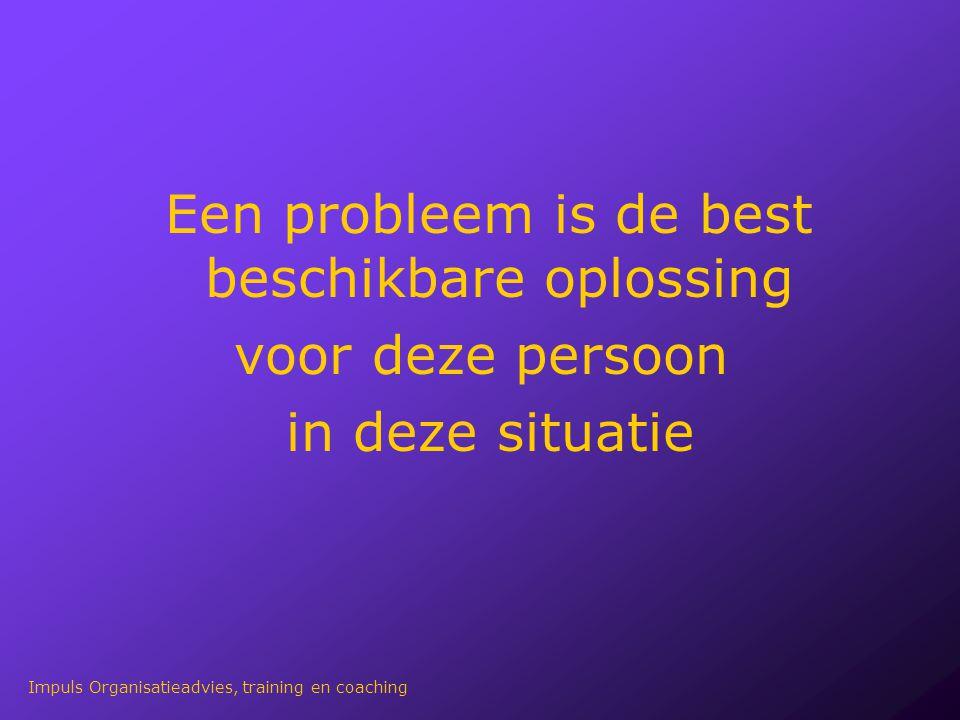 Een probleem is de best beschikbare oplossing voor deze persoon in deze situatie Impuls Organisatieadvies, training en coaching