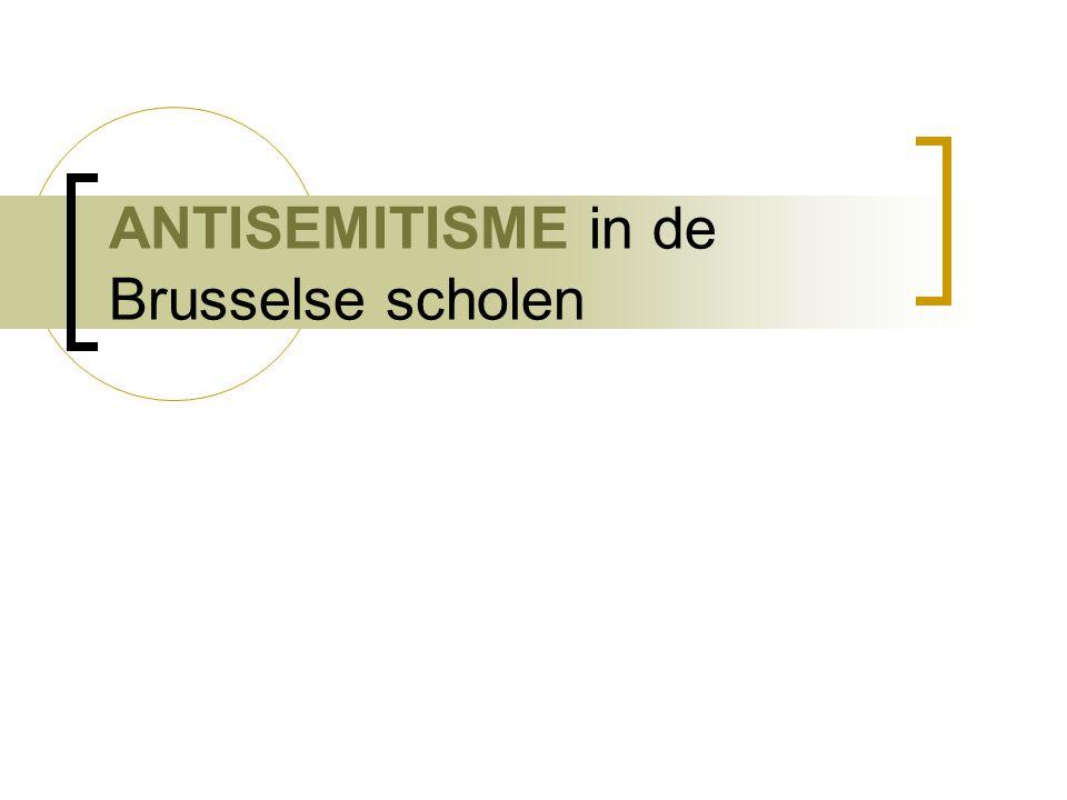 ANTISEMITISME in de Brusselse scholen