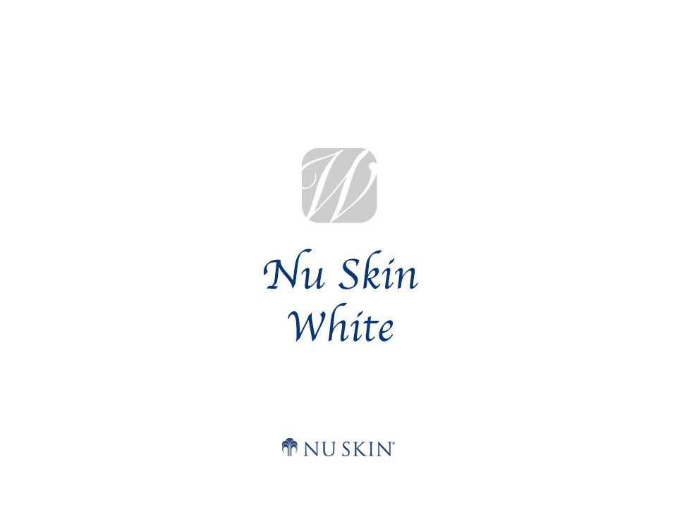 Nu Skin White System  Een geavanceerd systeem bestaand uit ingrediënten met een bewezen heilzame werking op de huid, dat speciaal ontwikkeld is om de gelaatskleur helderder te maken.