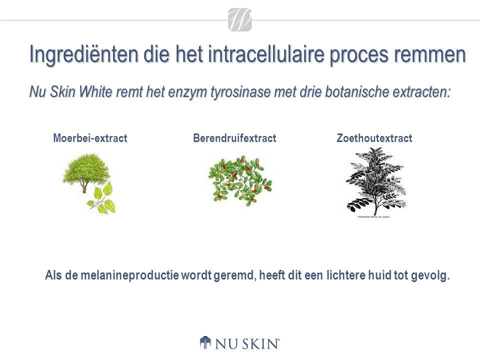 Zoethoutextract Nu Skin White remt het enzym tyrosinase met drie botanische extracten: Als de melanineproductie wordt geremd, heeft dit een lichtere h