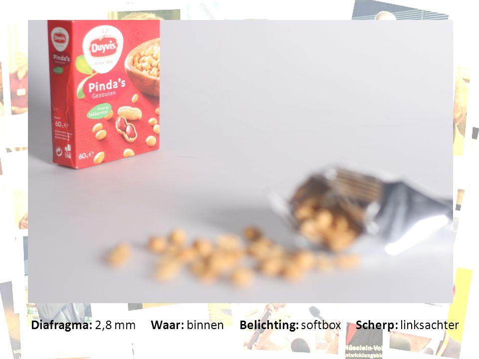 Diafragma: 2,8 mm Waar: binnen Belichting: softbox Scherp: linksachter