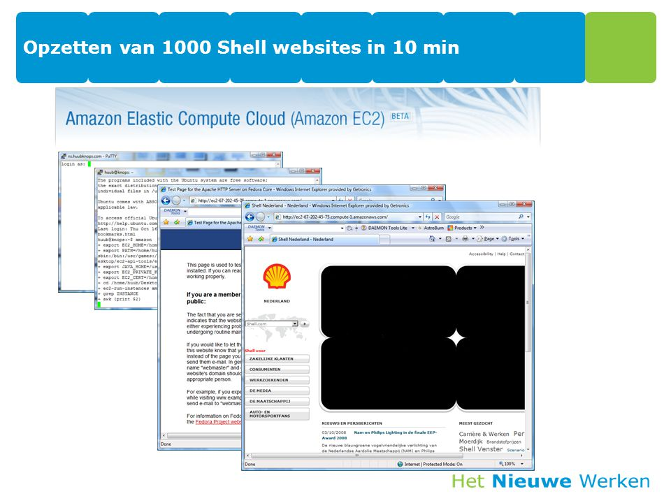 Opzetten van 1000 Shell websites in 10 min