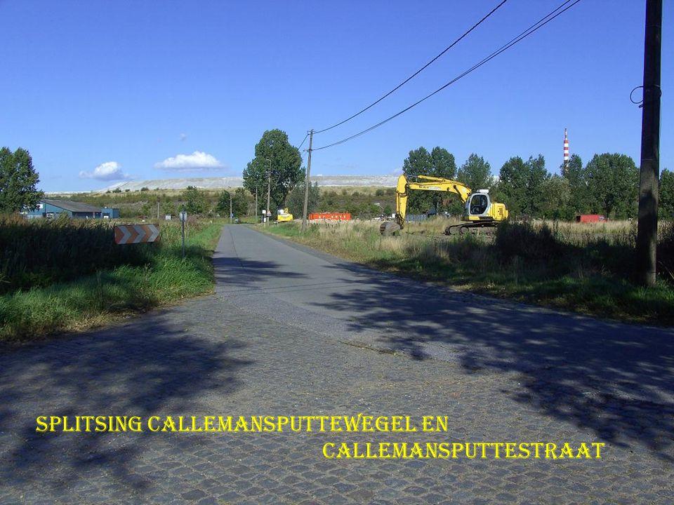 Splitsing callemansputtewegel en Callemansputtestraat
