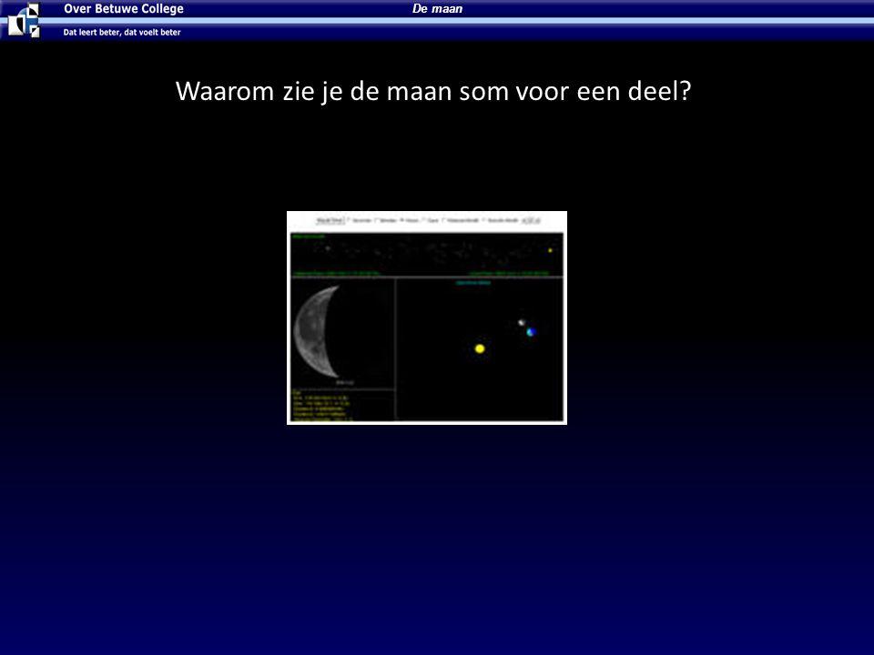 Waarom zie je de maan som voor een deel? De maan