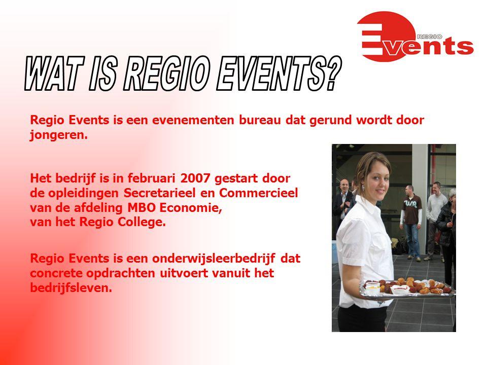Regio Events is een evenementen bureau dat gerund wordt door jongeren.
