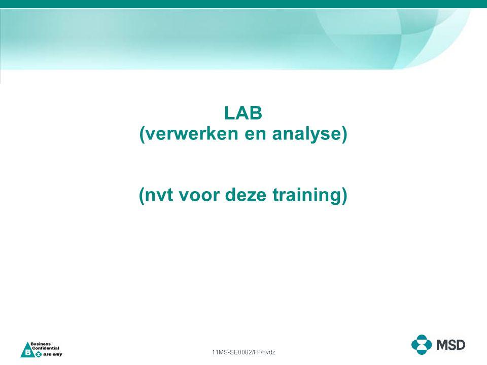 11MS-SE0082/FF/hvdz LAB (verwerken en analyse) (nvt voor deze training)