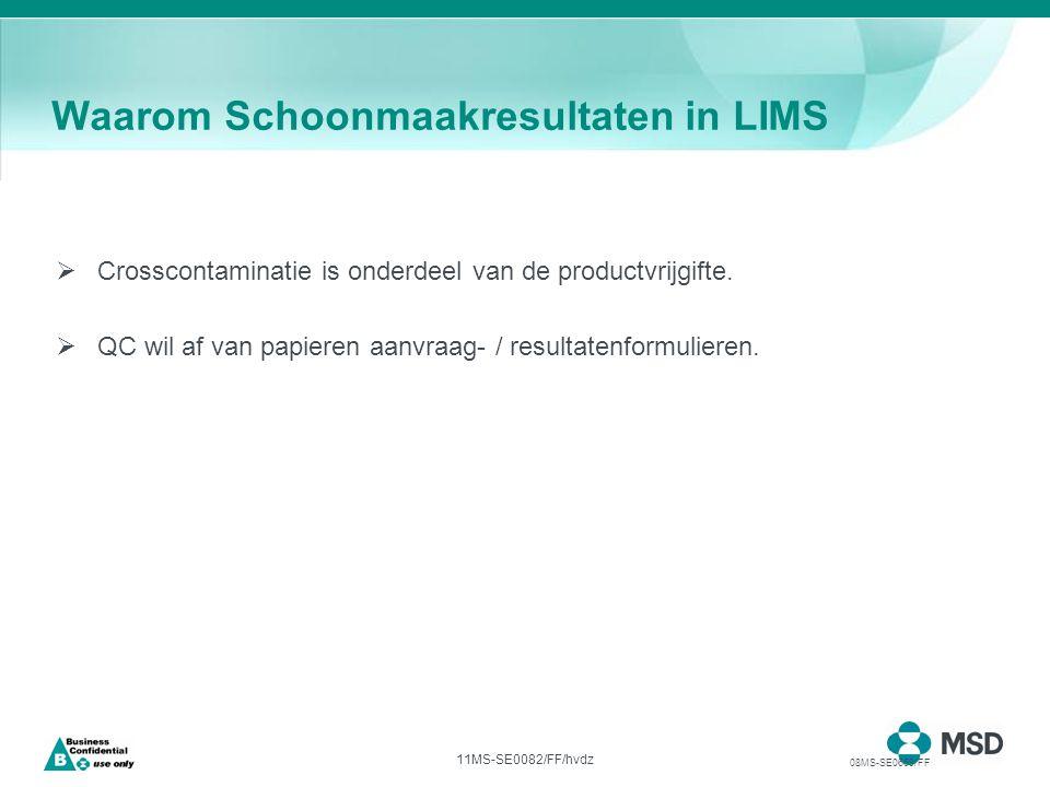 11MS-SE0082/FF/hvdz  Crosscontaminatie is onderdeel van de productvrijgifte.