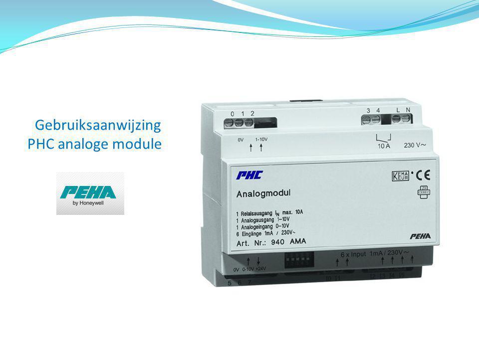 Gebruiksaanwijzing PHC analoge module