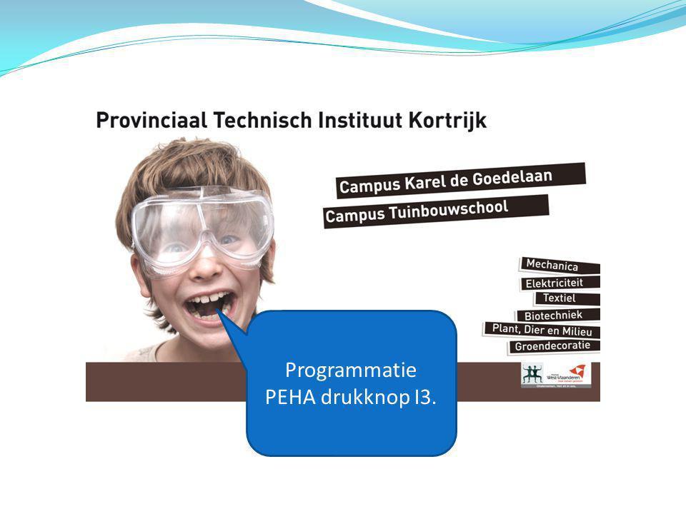 Programmatie PEHA drukknop I3.