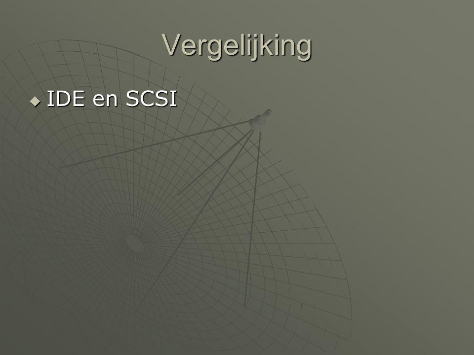 Vergelijking  IDE en SCSI