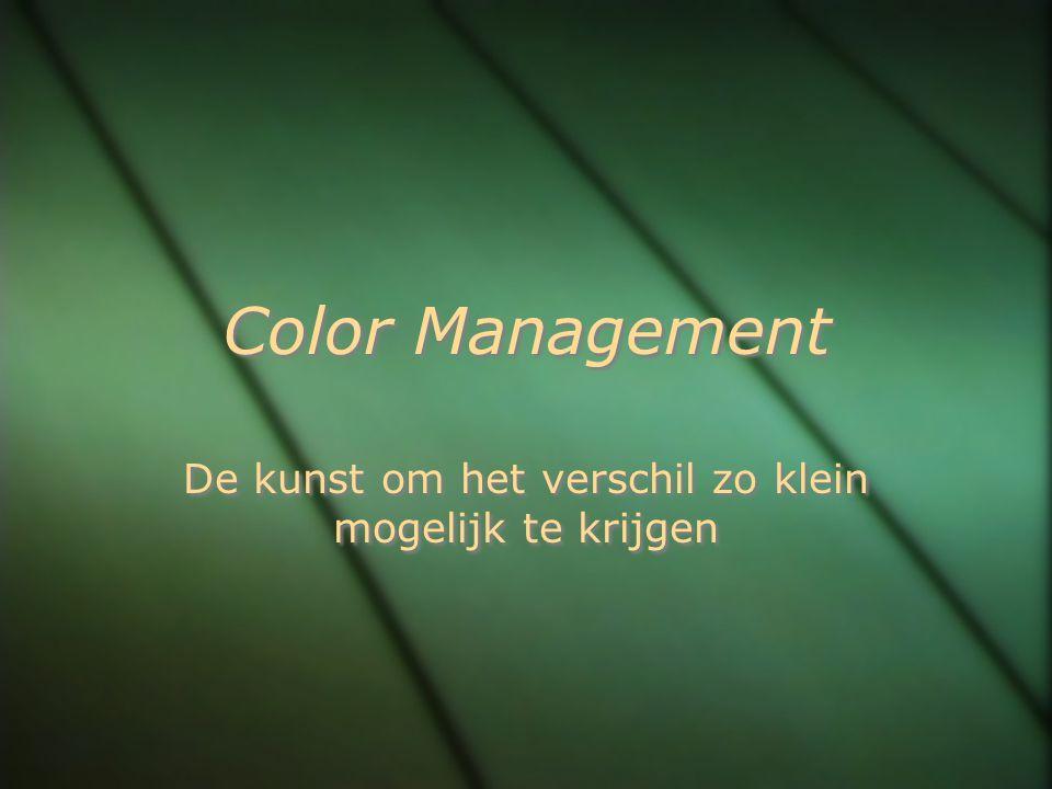 Print met afdrukvoorbeeld We laten het kleur- management over aan Photoshop en kiezen voor een uitvoerprofiel wat de kleurruimte van de printer beschrijft op een bepaalde papiersoort.