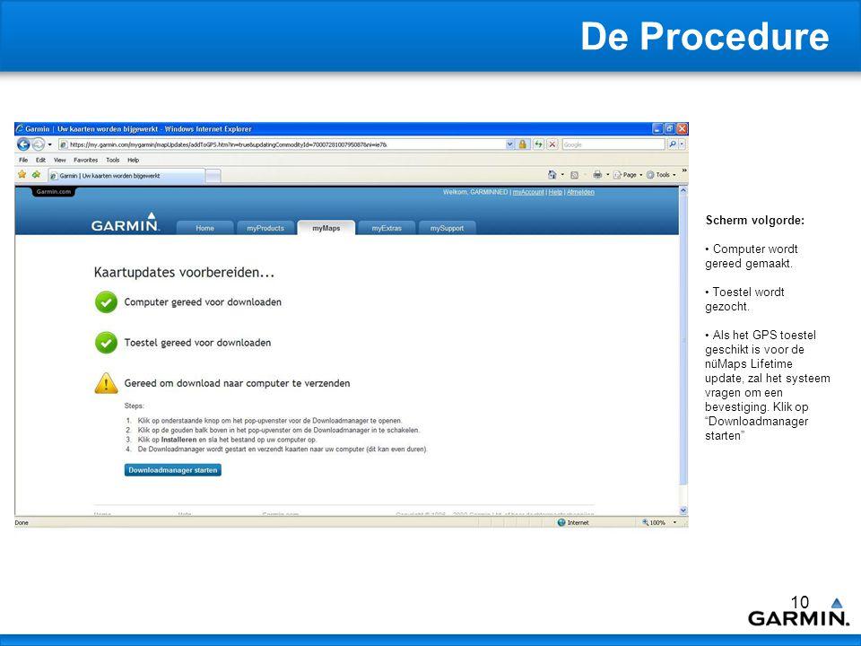 11 De Procedure Scherm volgorde: De Download Manager zal starten en een Bestand opslaan scherm zal verschijnen in het scherm.
