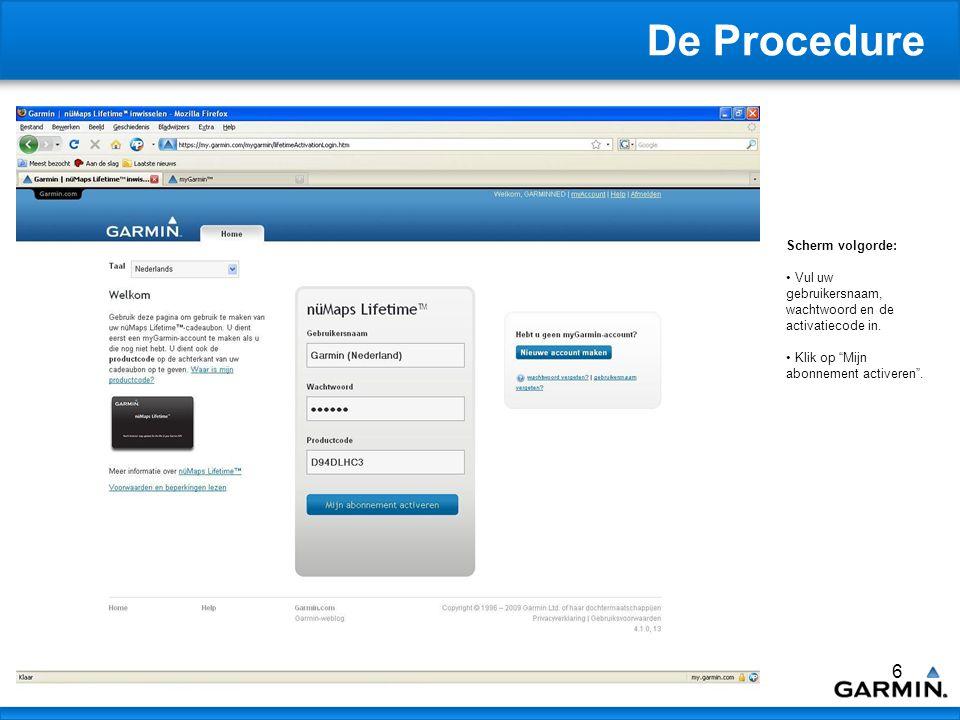 7 De Procedure Scherm volgorde: Systeem controleert of de Communicator Plug- In correct is geinstalleerd.