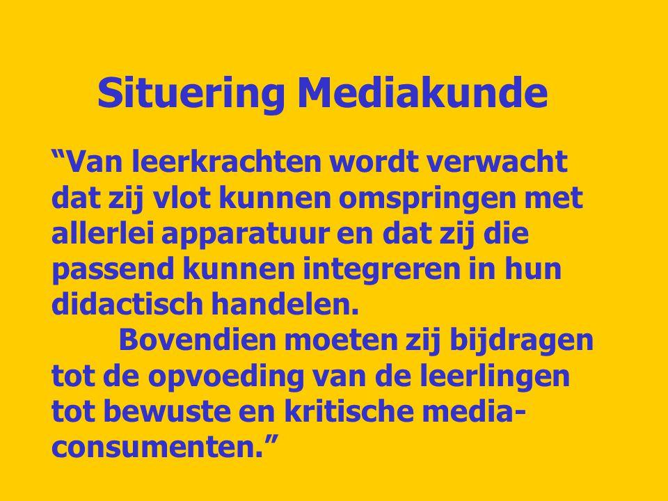 Mediakunde, wat bedoelt men daarmee.