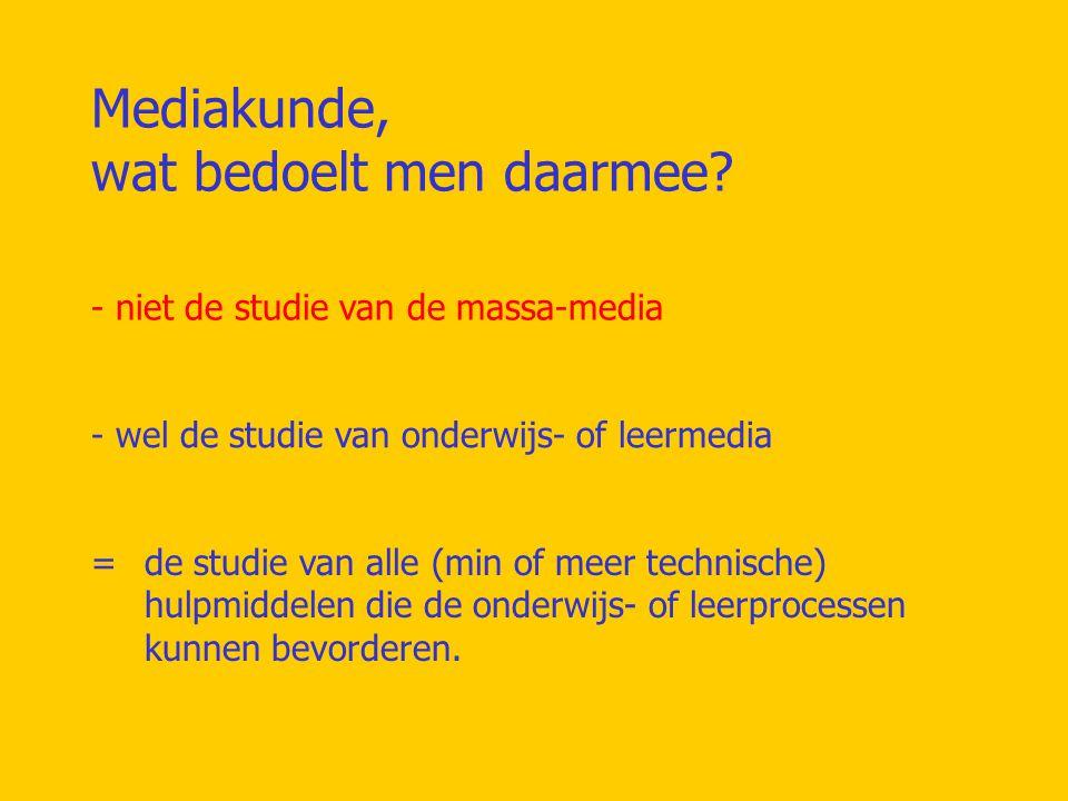 Mediakunde is multidisciplinair en bevat o.a.