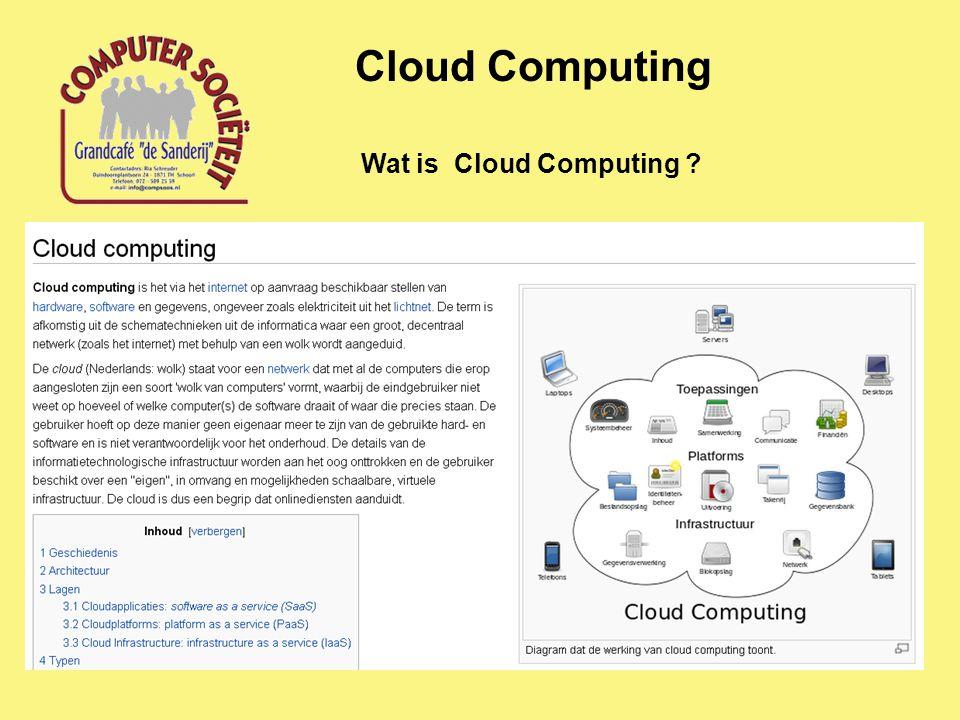Wat is Cloud Computing ? Cloud Computing