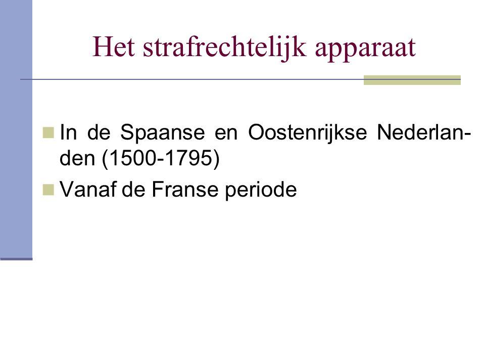 Het strafrechtelijk apparaat In de Spaanse en Oostenrijkse Nederlan- den (1500-1795) Vanaf de Franse periode