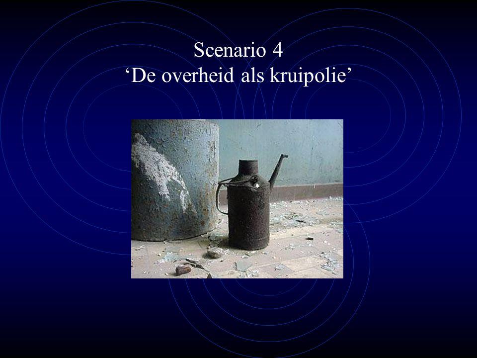 Scenario 4 'De overheid als kruipolie'