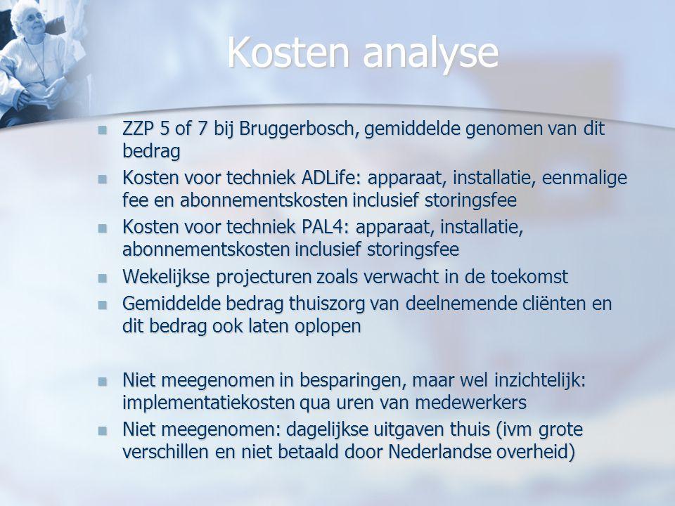 Kosten analyse ZZP 5 of 7 bij Bruggerbosch, gemiddelde genomen van dit bedrag ZZP 5 of 7 bij Bruggerbosch, gemiddelde genomen van dit bedrag Kosten vo