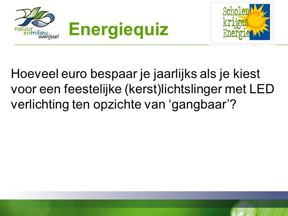 Energiequiz Hoeveel euro bespaar je jaarlijks als je kiest voor een feestelijke (kerst)lichtslinger met LED verlichting ten opzichte van 'gangbaar'?