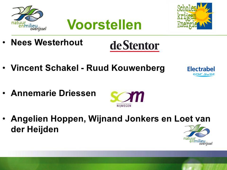 Voorstellen Nees Westerhout Vincent Schakel - Ruud Kouwenberg Annemarie Driessen Angelien Hoppen, Wijnand Jonkers en Loet van der Heijden