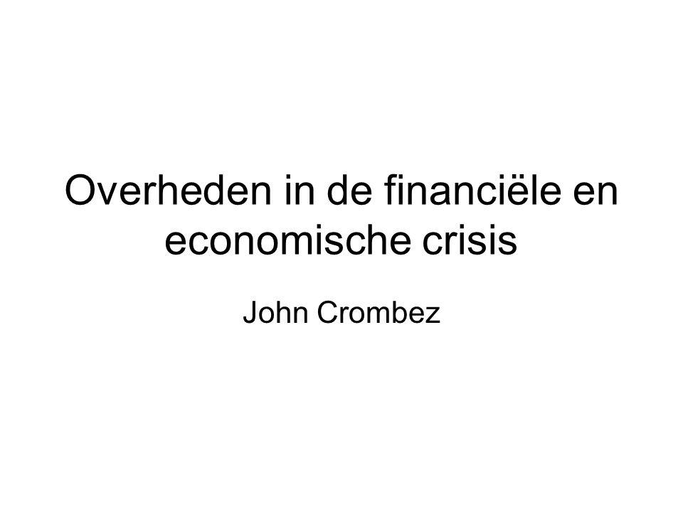 Overheden in de financiële en economische crisis John Crombez