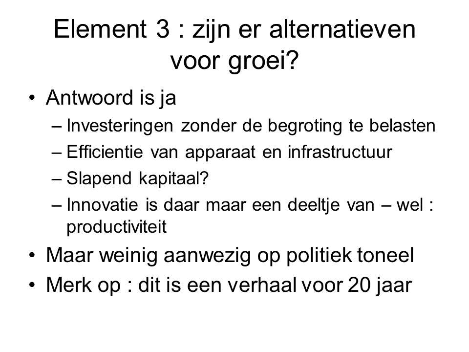 Element 3 : zijn er alternatieven voor groei.